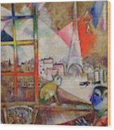 Paris Through The Window - Paris Par La Fenetre, 1913 Wood Print