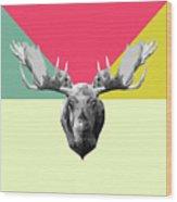 Party Moose Wood Print