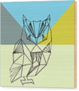 Party Owl Wood Print