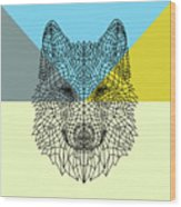 Party Wolf Wood Print