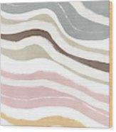 Pastel Waves 2- Art By Linda Woods Wood Print