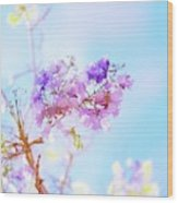 Pastels In The Sky Wood Print