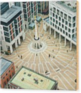 Paternoster Square, London. It Is An Wood Print