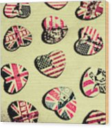 Patriotic Picks Wood Print