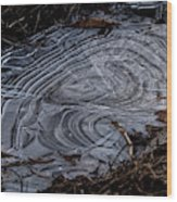 Patterns In Ice Wood Print