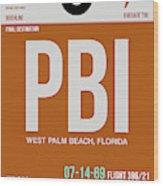 Pbi West Palm Beach Luggage Tag II Wood Print