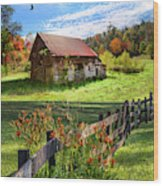 Peaceful Country Morning Wood Print