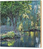 Peaceful Oasis - Japanese Garden Lake Wood Print