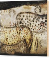Pech Merle Horses And Hands Wood Print