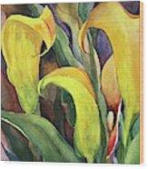 Peeking Lily Wood Print