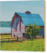 Penn Cove Barn Wood Print