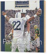 Penn State University Brian Milne, 1994 Ncaa Perfect Season Sports Illustrated Cover Wood Print