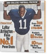 Penn State University Lavar Arrington, 1999 College Sports Illustrated Cover Wood Print