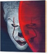 It Pennywise Wood Print