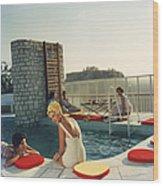 Penthouse Pool Wood Print