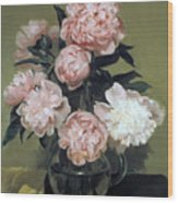 Peonies Front And Center Wood Print
