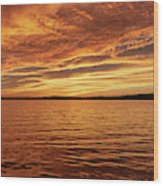 Percy Priest Lake Sunset Wood Print