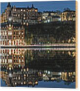 Perfect Sodermalm Blue Hour Reflection Wood Print