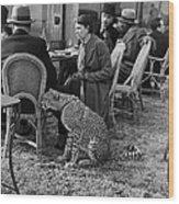 Pet Cheetah Wood Print