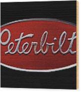 Peterbilt Emblem Black Wood Print