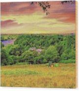 Petersham Landscape Wood Print