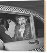 Phil Jackson In Taxi Wood Print