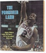 Philadelphia 76ers Moses Malone, 1983 Nba Finals Sports Illustrated Cover Wood Print