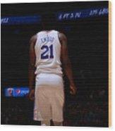 Philadelphia 76ers V Denver Nuggets Wood Print