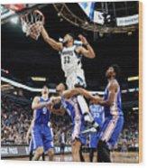 Philadelphia 76ers V Minnesota Wood Print