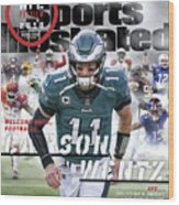 Philadelphia Eagles Carson Wentz, 2018 Nfl Football Preview Sports Illustrated Cover Wood Print