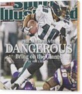 Philadelphia Eagles Desean Jackson, 2009 Nfc Wild Card Sports Illustrated Cover Wood Print