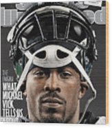 Philadelphia Eagles Qb Michael Vick Sports Illustrated Cover Wood Print