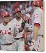 Philadelphia Phillies V St Louis Wood Print