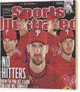 Philladelphia Phillies Starting Five, 2011 Mlb Baseball Sports Illustrated Cover Wood Print