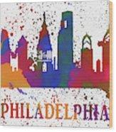 Philly Color Splash Wood Print