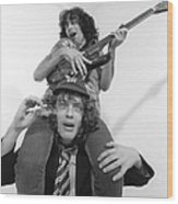 Photo Of Ac Dc And Bon Scott And Acdc Wood Print