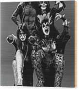 Photo Of Ace Frehley And Peter Criss Wood Print
