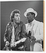Photo Of Bruce Springsteen And Clarence Wood Print