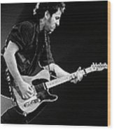 Photo Of Bruce Springsteen Wood Print