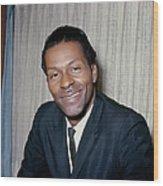 Photo Of Chuck Berry Wood Print