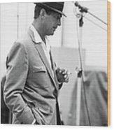 Photo Of Dean Martin Wood Print
