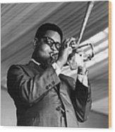 Photo Of Dizzy Gillespie Wood Print