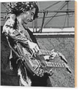 Photo Of Jimmy Page And Led Zeppelin Wood Print