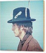 Photo Of John Lennon Wood Print