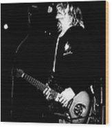 Photo Of Kurt Cobain And Nirvana Wood Print