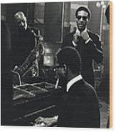 Photo Of Max Roach And Sonny Rollins Wood Print