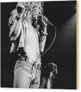 Photo Of Robert Plant And Led Zeppelin Wood Print