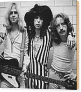 Photo Of Steven Tyler And Aerosmith And Wood Print