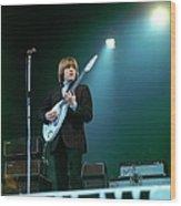 Photo Of Vox Guitars And Brian Jones Wood Print