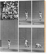 Photo Sequence Willie Mays Makes His Wood Print